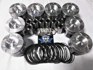 6.0L Powerstroke Diesel Fly Cut and Delipped Piston set