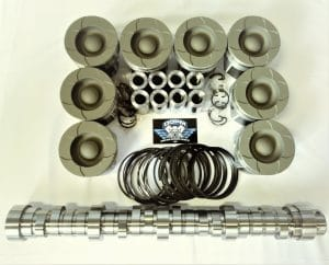 6.0L Ford Powerstroke diesel HD piston & stg 2 camshaft package