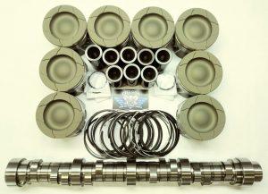 6.4L Ford Powerstroke Diesel HD Piston set & Stage 2 Camshaft pkg