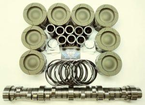 6.4L Ford Powerstroke Diesel HD Piston set & Stage 1 Camshaft pkg